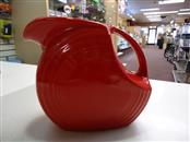 Vintage Original Fiestaware Red Disc Pitcher